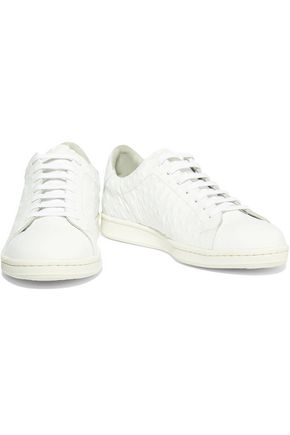 IRIS & INK Portland ostrich-effect leather sneakers