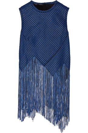 PROENZA SCHOULER Asymmetric fringed basketweave top