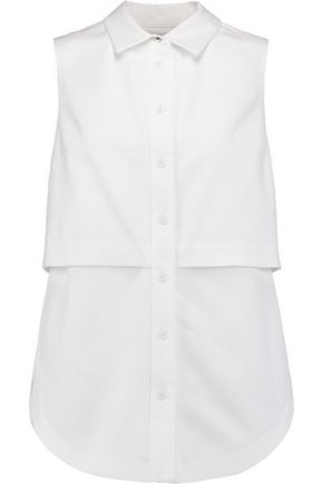 PROENZA SCHOULER Layered cotton-piqué shirt