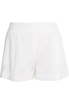 LELA ROSE Broderie anglaise cotton shorts