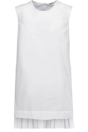 ADAM LIPPES Asymmetric pleated poplin tunic