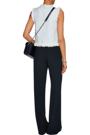 T by ALEXANDER WANG Frayed woven cotton top