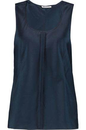 T by ALEXANDER WANG Stretch-silk satin tank