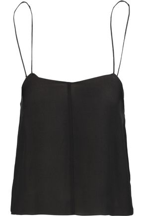 T by ALEXANDER WANG Silk-georgette camisole
