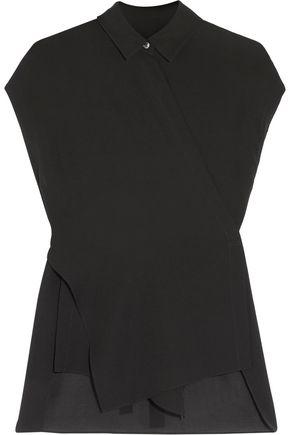 T by ALEXANDER WANG Silk-chiffon wrap blouse