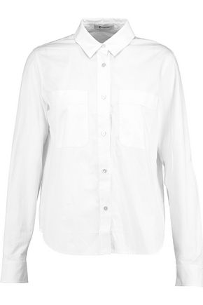T by ALEXANDER WANG Cotton-twill shirt