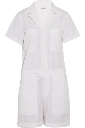 T by ALEXANDER WANG Cotton-blend poplin playsuit