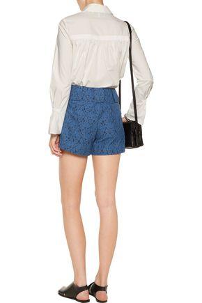 DEREK LAM 10 CROSBY Cotton-blend corded lace shorts