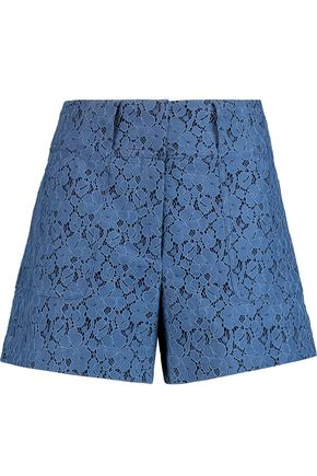 DEREK LAM 10 CROSBY Cotton-blend corded lace shorts