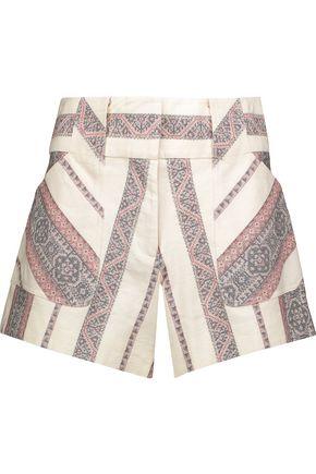 DEREK LAM 10 CROSBY Cotton and linen-blend jacquard shorts