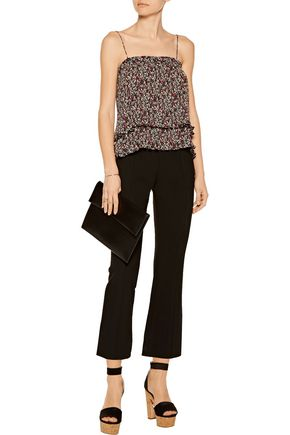 10 CROSBY DEREK LAM Smocked printed georgette top