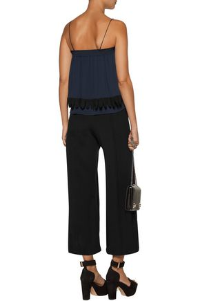 10 CROSBY DEREK LAM Lace-trimmed georgette top