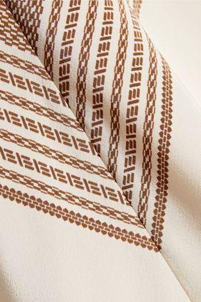 DEREK LAM 10 CROSBY Printed silk crepe de chine tank