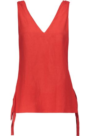10 CROSBY DEREK LAM Shirred crepe top