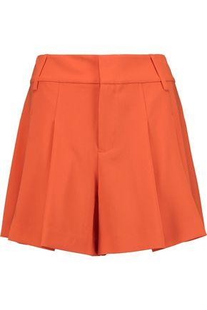 ALICE + OLIVIA Scarlet pleated crepe shorts