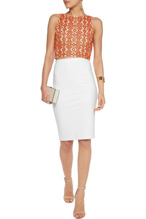 ALICE + OLIVIA Pire beaded tulle top