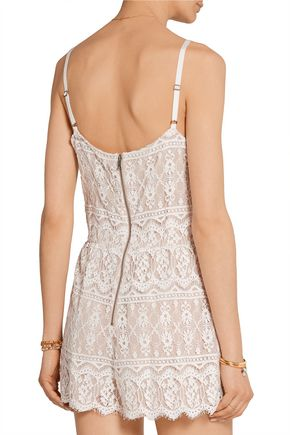 ALICE + OLIVIA Cassia lace playsuit