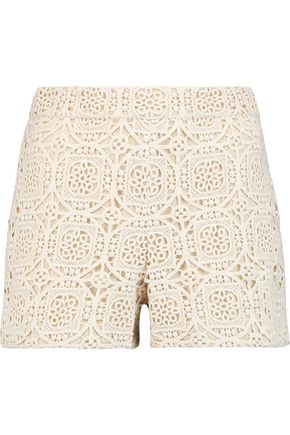 ALICE + OLIVIA Susi crocheted cotton shorts