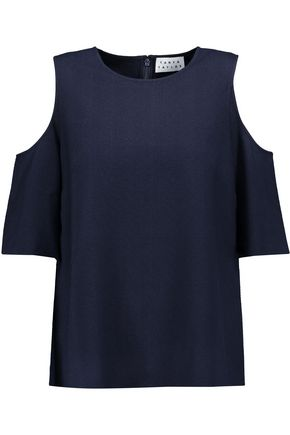 TANYA TAYLOR Iris cutout stretch-jacquard top