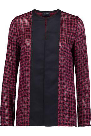LANVIN Grosgrain-paneled fil coupé blouse