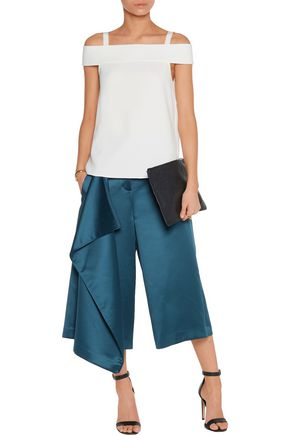 TIBI Off-the-shoulder crepe top