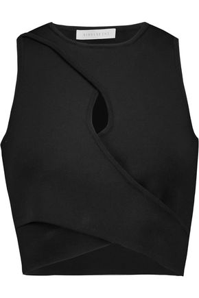 DION LEE Cropped stretch-crepe top