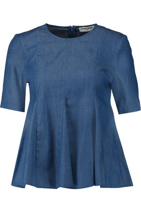 OPENING CEREMONY Penn pleated chambray top