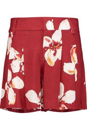 ALICE + OLIVIA Scarlet floral-print crepe shorts