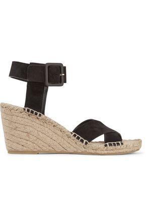 VINCE. Stefania suede wedge espadrille sandals