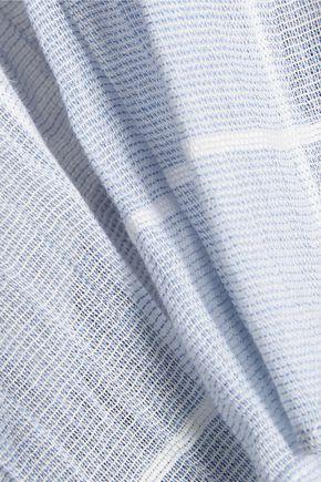 JONATHAN SIMKHAI Eyelet-trimmed cotton-gauze top