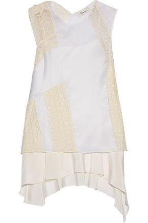 3.1 PHILLIP LIM Tiered embroidered silk-organza top