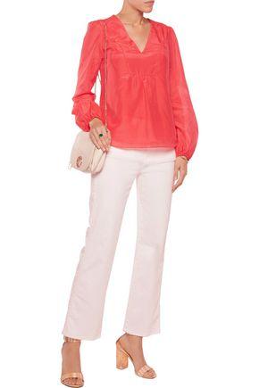 DIANE VON FURSTENBERG Maslyn cotton and silk-blend voile blouse