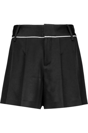 ALICE + OLIVIA Selina crepe-satin shorts