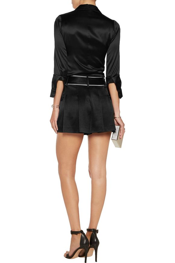 Selina crepe-satin shorts | ALICE + OLIVIA | Sale up to 70% off | THE OUTNET