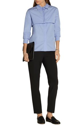 NINA RICCI Cropped cotton-poplin shirt