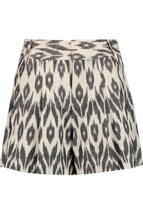 ALICE + OLIVIA Scarlet intarsia cotton shorts