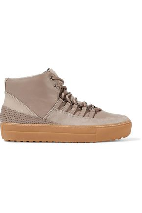 ATELJÉ 71 Gabbi leather and suede high-top sneakers