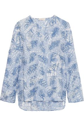 TORY BURCH Printed gauze top