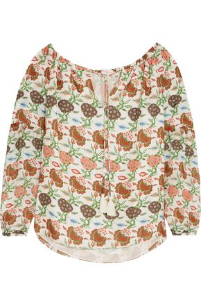 TORY BURCH Julia floral-print silk blouse