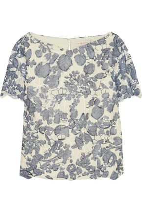 TORY BURCH Ian guipure lace top
