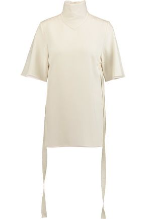 ELLERY Blasphemy crepe turtleneck top