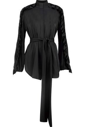 ELLERY Audacity ruffle-trimmed silk-blend blouse