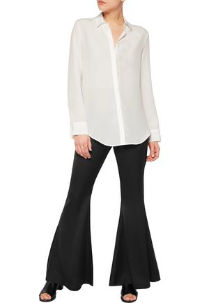 IRIS AND INK Thea silk-chiffon shirt