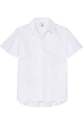 IRIS & INK Broderie anglaise cotton shirt