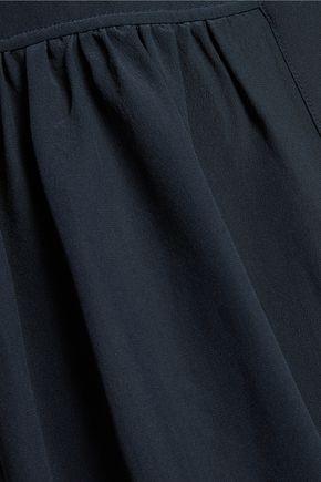 IRIS AND INK Gathered silk crepe de chine shirt