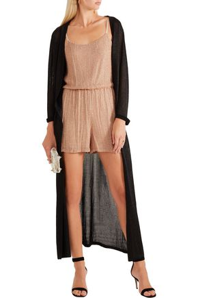 ALICE + OLIVIA Mika Folly embellished silk-georgette playsuit