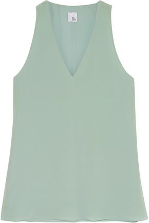 IRIS & INK Silk-crepe top