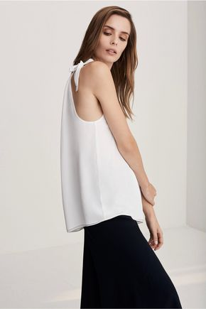 IRIS AND INK Ruched silk top