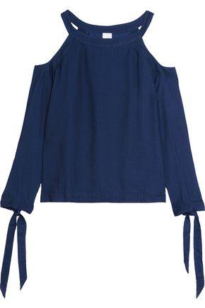 IRIS & INK Cold-shoulder Tencel top