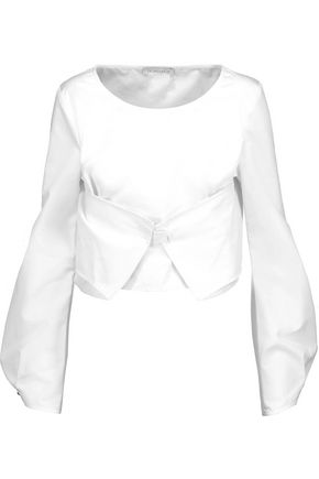 J.W.ANDERSON Asymmetric paneled cotton-poplin top